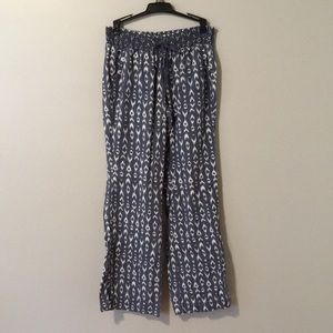 Linen pants blue and white